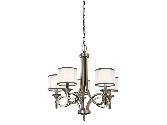 Lacey 5 Light Chandelier Antique Pewter