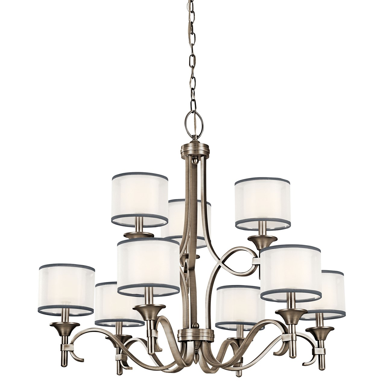 Lacey 9 Light Chandelier Antique Pewter