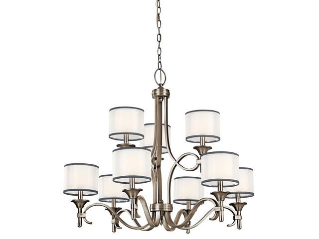 Lacey™ 9 Light Chandelier Antique Pewter
