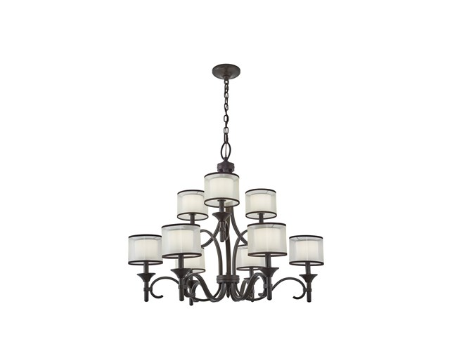 Lacey™ 9 Light Chandelier Mission Bronze