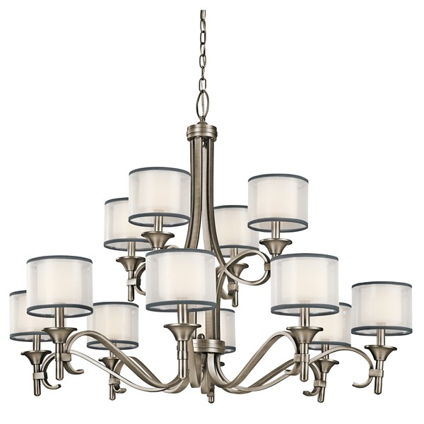 Lacey 12 Light Chandelier Antique Pewter