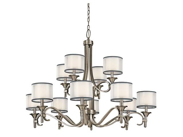 Lacey™ 12 Light Chandelier Antique Pewter