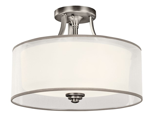 Lacey™ 3 Light Semi Flush Antique Pewter