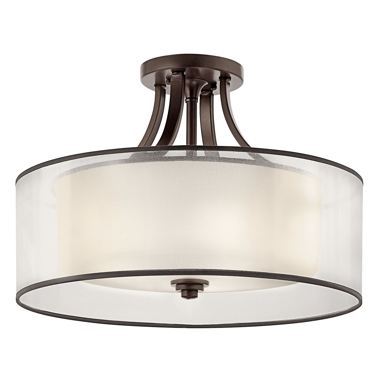 Lacey 4 Light Semi Flush Mission Bronze