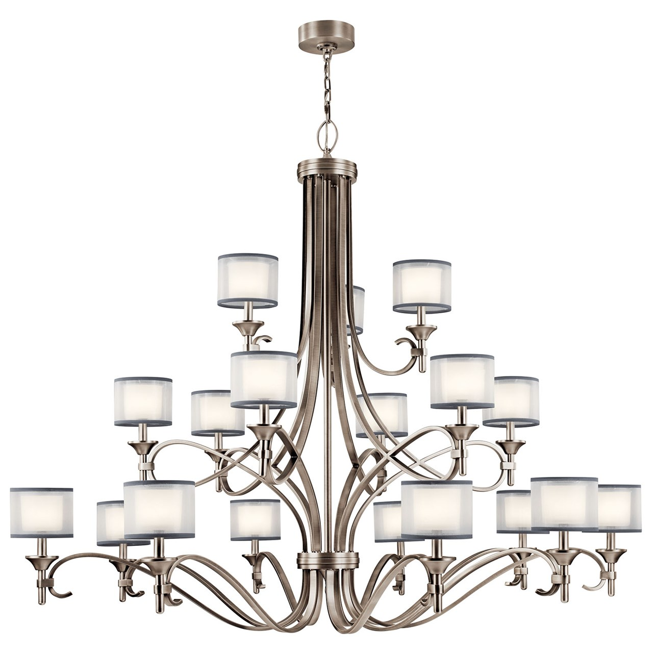 Lacey 18 Light Grand Chandelier Antique Pewter