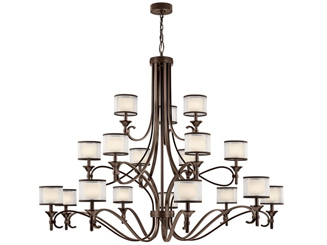 Lacey 18 Light Grand Chandelier Mission Bronze