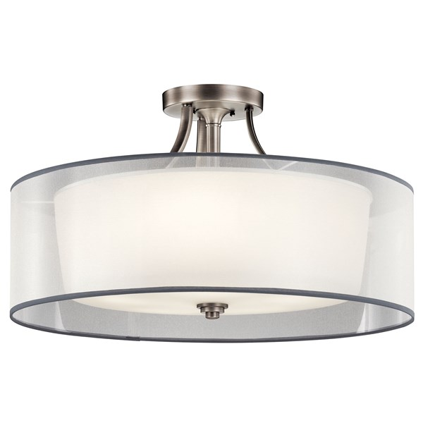 Lacey 5 Light Semi Flush Antique Pewter