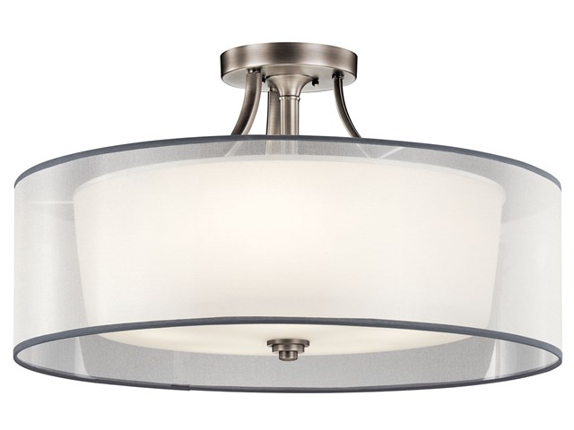 Lacey™ 5 Light Semi Flush Antique Pewter