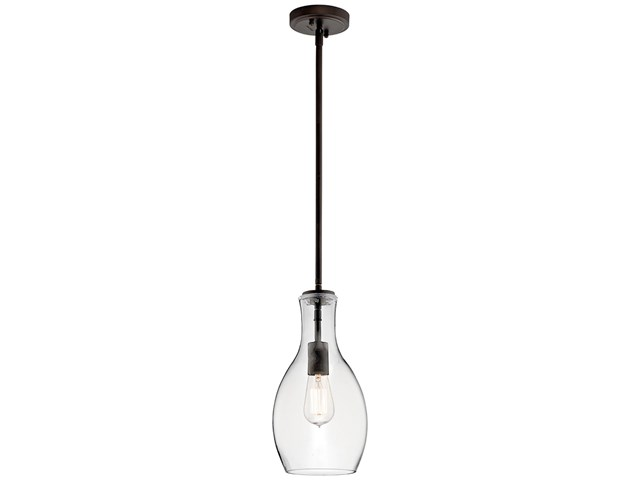 Everly™ 1 Light Pendant in Olde Bronze® with Clear Glass