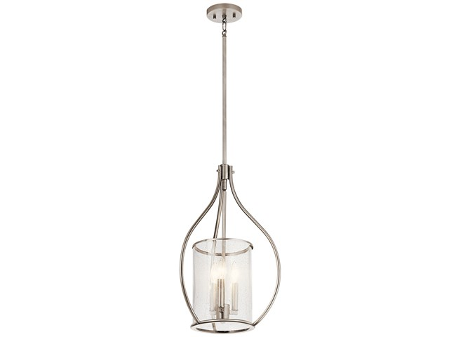 Fiona 3 Light Foyer Pendant Classic Pewter