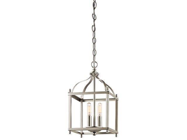 Larkin™ 2 Light Mini Pendant Brushed Nickel
