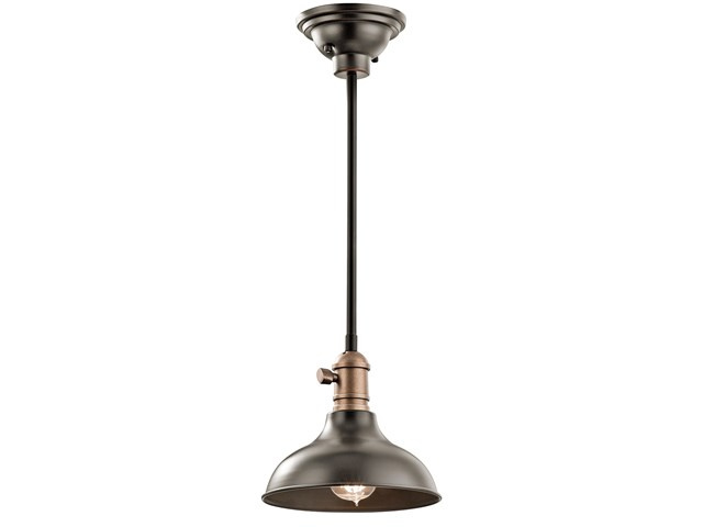 "Cobson 8"" 1 Light Convertible Mini Pendant Olde Bronze®"