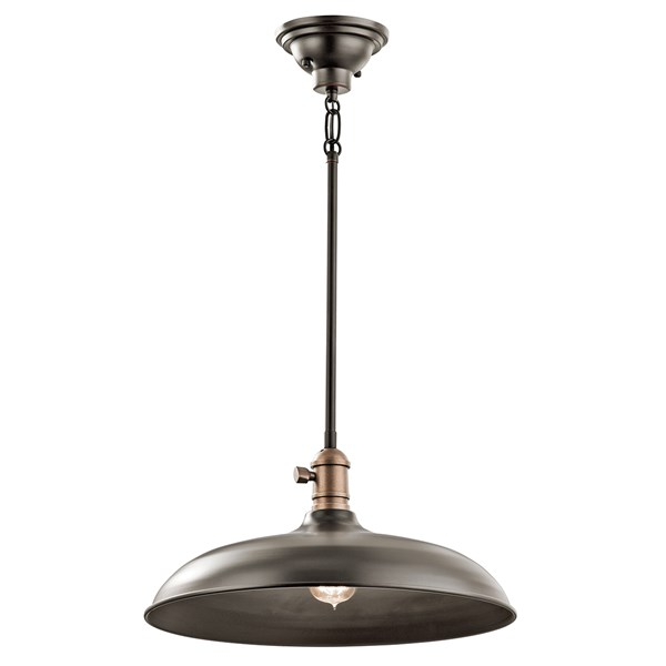 "Cobson 16"" 1 Light Convertible Pendant Olde Bronze®"