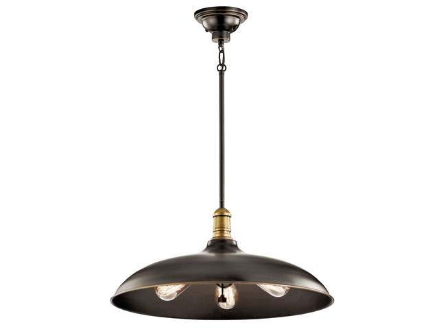"Cobson 3 Light 20"" Pendant Olde Bronze®"