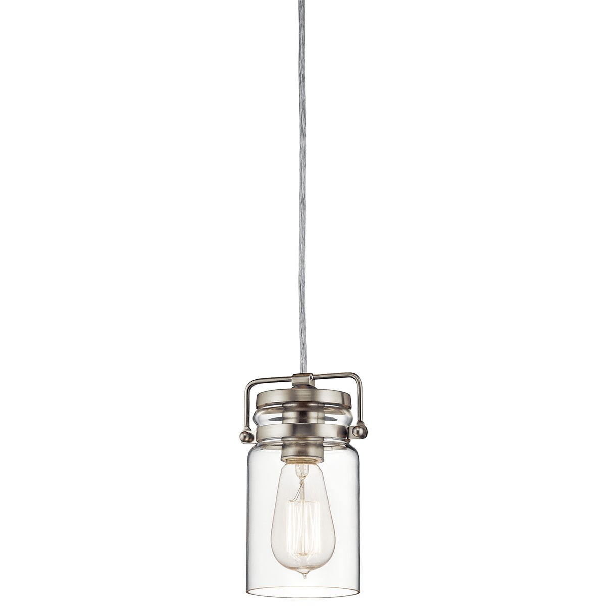 Brinley™ 1 Light Mini Pendant Brushed Nickel