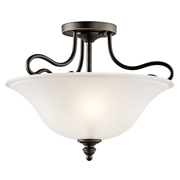 Tanglewood™ 2 Light Semi Flush with LED Bulbs Olde Bronze®