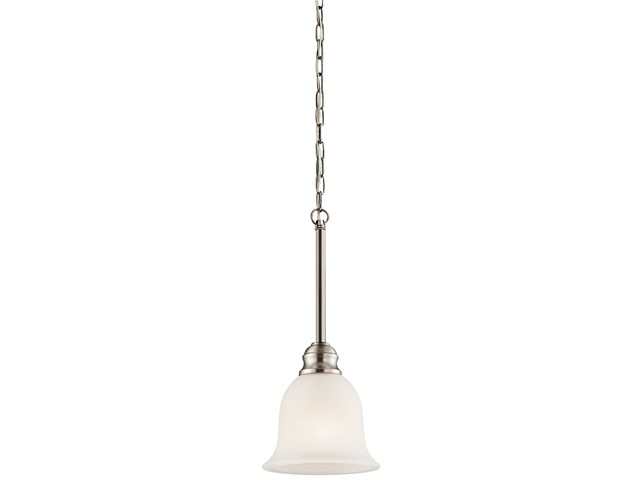 "Tanglewood™ 6.25"" 1 Light Mini Pendant Brushed Nickel"