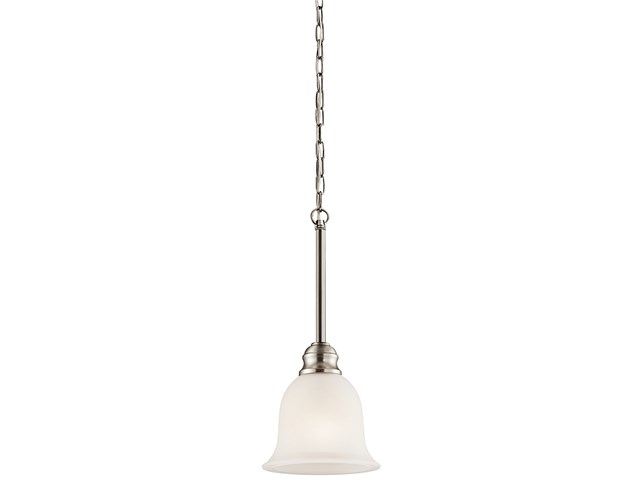 "Tanglewood™ 6.25"" 1 Light Mini Pendant with LED Bulb Brushed Nickel"