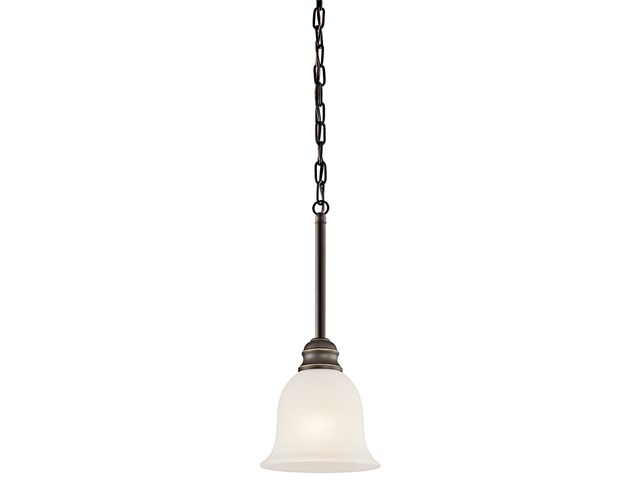 "Tanglewood™ 6.25"" 1 Light Mini Pendant with LED Bulb Olde Bronze®"