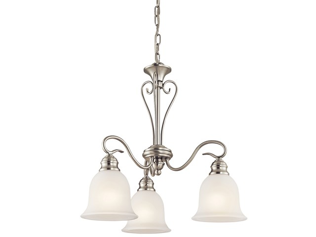 Tanglewood™ 3 Light Chandelier with LED Bulbs Brushed Nickel