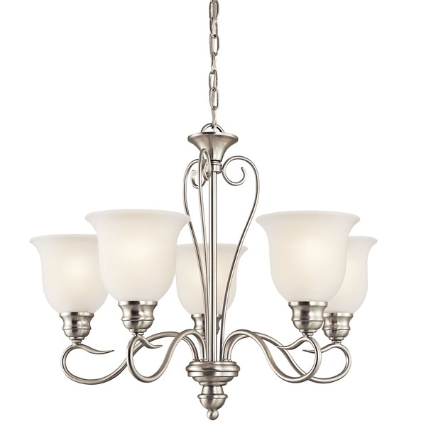 Tanglewood™ 5 Light Chandelier Brushed Nickel