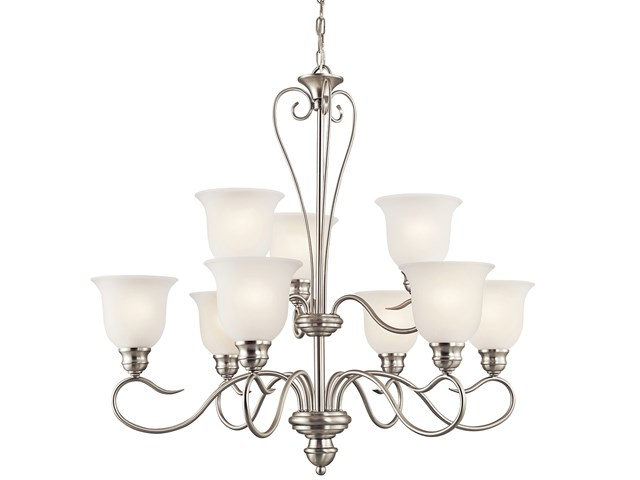 Tanglewood™ 9 Light Chandelier with LED Bulbs Brushed Nickel