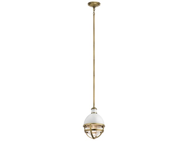 "Tollis™ 12.5"" 1 Light Mini Pendant Natural Brass"