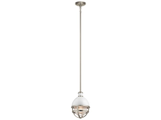 "Tollis™ 12.5"" 1 Light Mini Pendant Brushed Nickel"