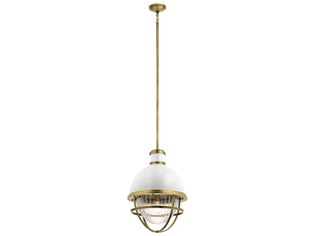 "Tollis™ 23.75"" 1 Light Foyer Pendant Natural Brass"