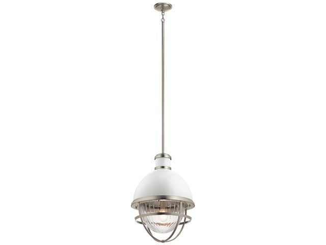 "Tollis™ 23.75"" 1 Light Foyer Pendant Brushed Nickel"