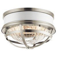 "Tollis™ 12"" 2 Light Flush Mount Brushed Nickel"