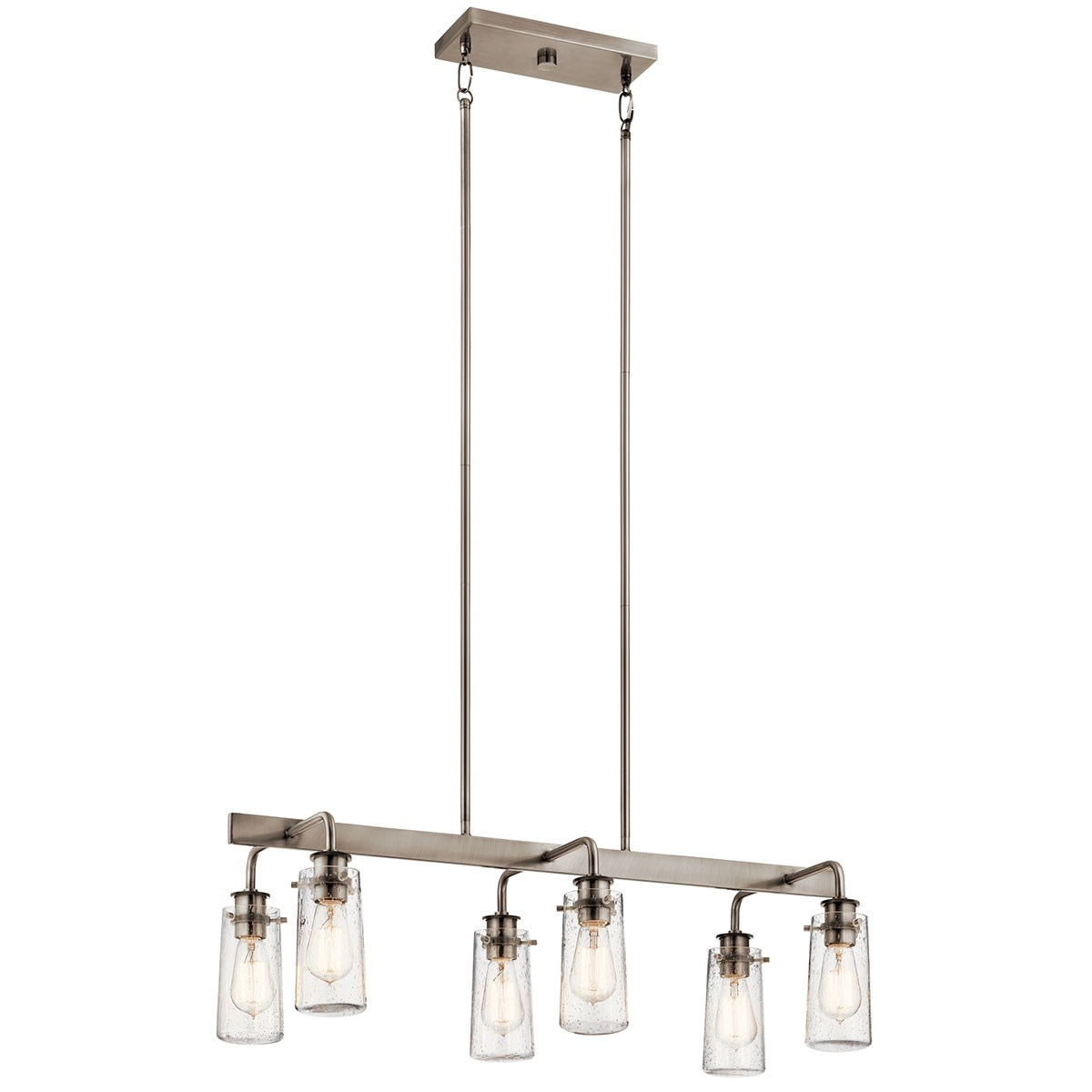 Braelyn 6 Light Linear Chandelier Classic Pewter