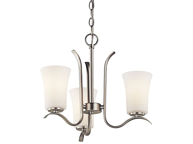 Armida™ 3 Light Mini Chandelier Brushed Nickel