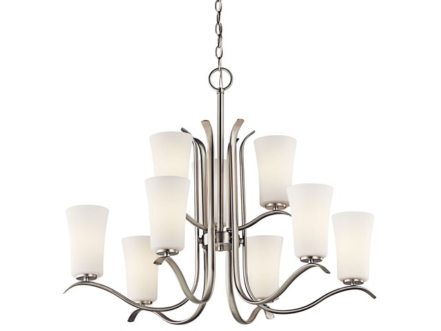Armida™ 9 Light 2 Tier Chandelier Brushed Nickel
