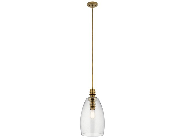 Lakum 1 Light Pendant Natural Brass