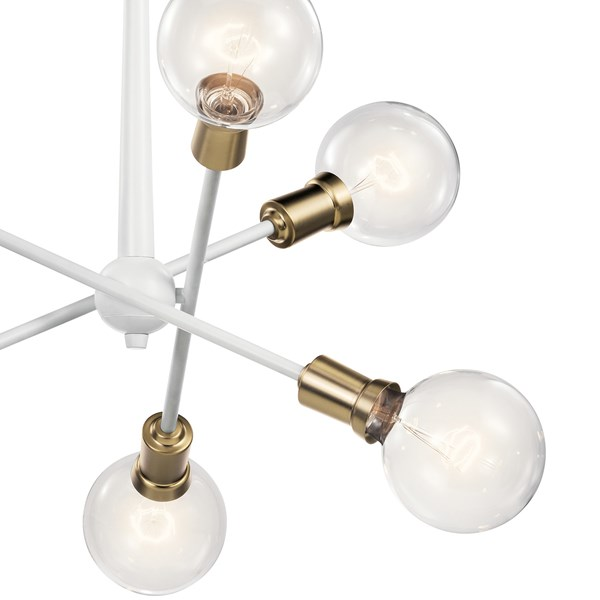 Armstrong 6 Light Chandelier White