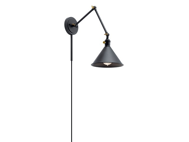 Ellerbeck™ 1 Light Wall Sconce Black
