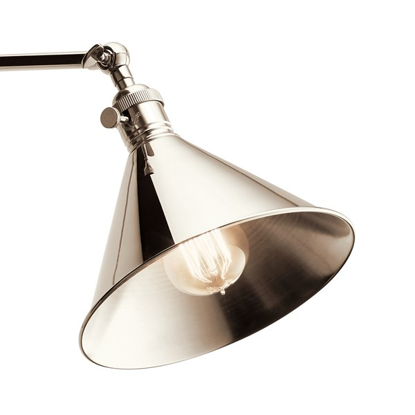 Ellerbeck™ 1 Light Wall Sconce Polished Nickel