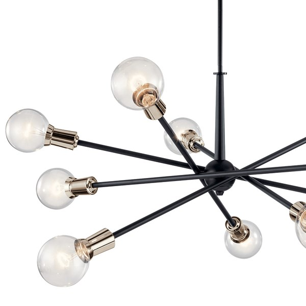 Armstrong 10 Light Chandelier Black