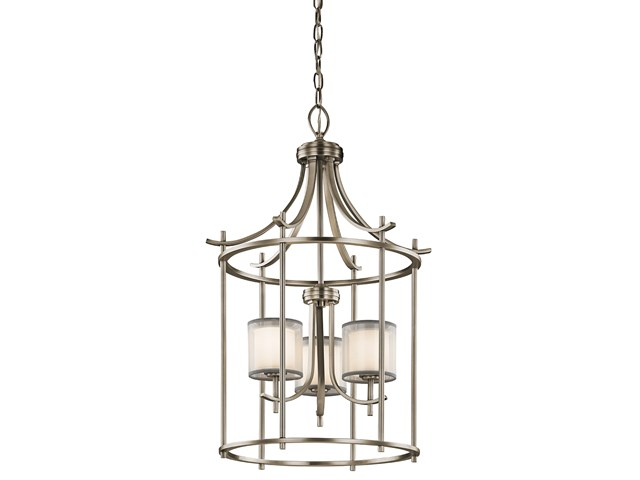 "Tallie™ 20"" 3 Light Foyer Pendant Antique Pewter"