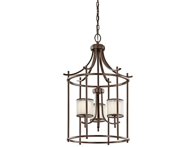 "Tallie™ 20"" 3 Light Foyer Pendant Mission Bronze"