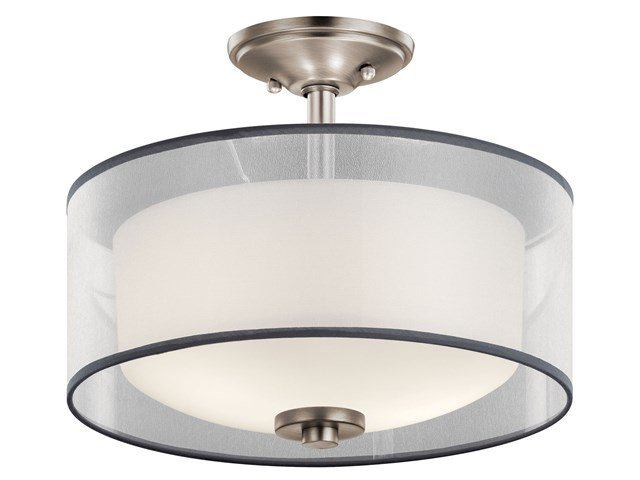 Tallie™ 2 Light Semi Flush Antique Pewter