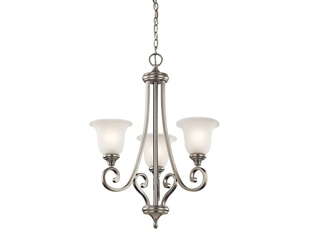 Monroe™ 3 Light Chandelier with LED Bulbs Brushed Nickel