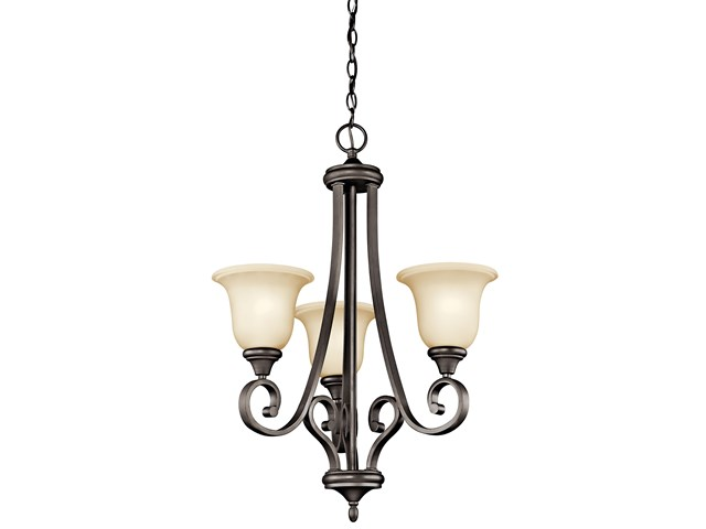 Monroe™ 3 Light Chandelier Olde Bronze®