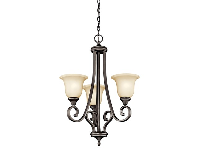 Monroe™ 3 Light Chandelier with LED Bulbs Olde Bronze®