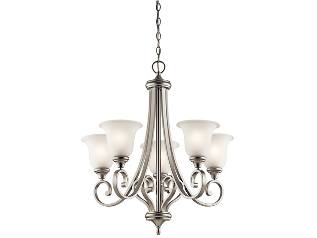 Monroe™ 5 Light Chandelier with LED Bulbs Brushed Nickel