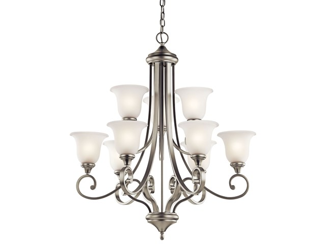 Monroe™ 9 Light Chandelier Brushed Nickel