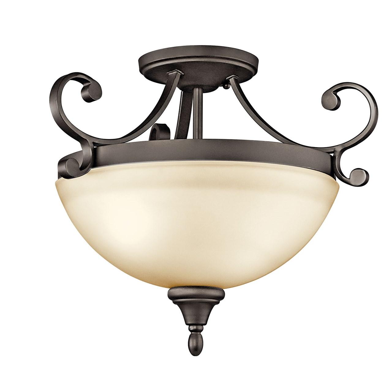 Www Kichler: Monroe™ 2 Light Semi Flush Olde Bronze®