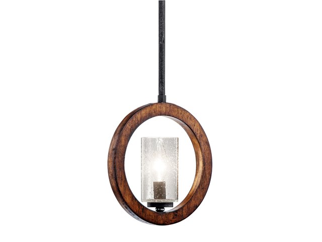 Grand Bank™ 1 Light Convertible Mini Pendant Auburn Stain