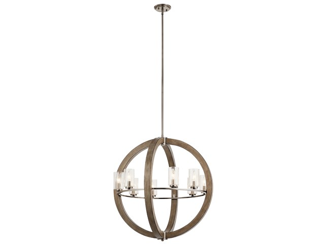 Grand Bank™ 8 Light Chandelier Distressed Antique Gray